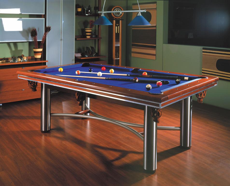 billard tisch manhattan aus massivholz und edelstahl. Black Bedroom Furniture Sets. Home Design Ideas