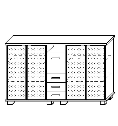 G-Sideboard 205/SM/06/PS/