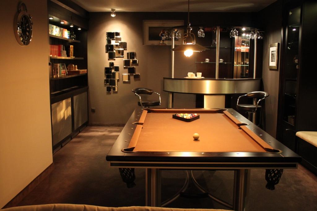 billard tisch manhattan massivholz edelstahl kaufen. Black Bedroom Furniture Sets. Home Design Ideas