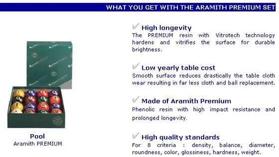 aramith pool kugeln premium online kaufen billard lissy. Black Bedroom Furniture Sets. Home Design Ideas
